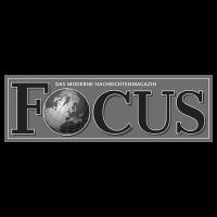 Logo Focus, black & white