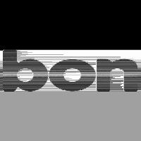 Logo bonOptics, black & white
