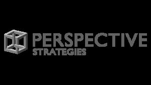Logo Perspective Strategies, black & white