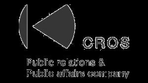 Logo CROS Public Relations, black & white