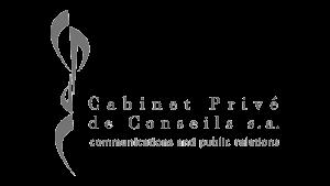 Logo Cabinet Privé de Conseils, black & white