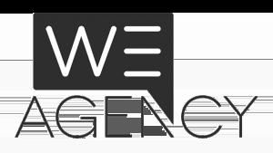Logo We Agency, black & white