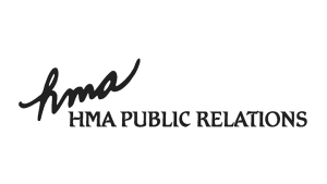 Logo hma Public Relations, black & white