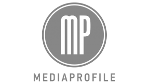 Logo Media Profile Inc., black & white