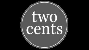 Logo two cents, black & white